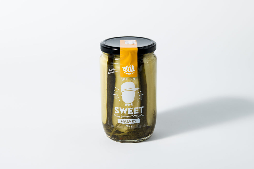 Dillicious Pickles Not So Sweet Halves 700g