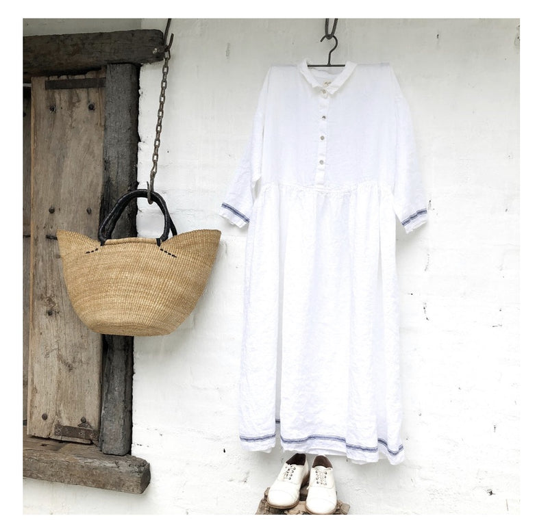 Edith French Linen Dress
