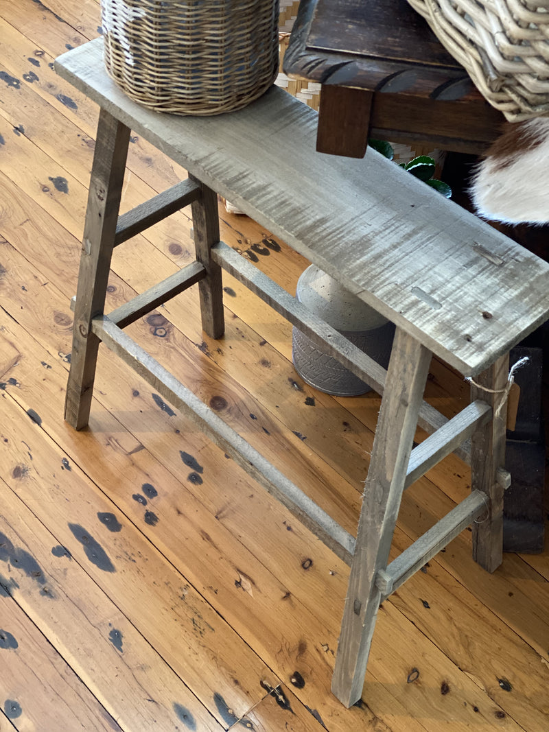 Double level rustic stool