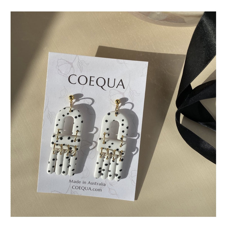 Coequa Three Tier Dangle Stud Earrings