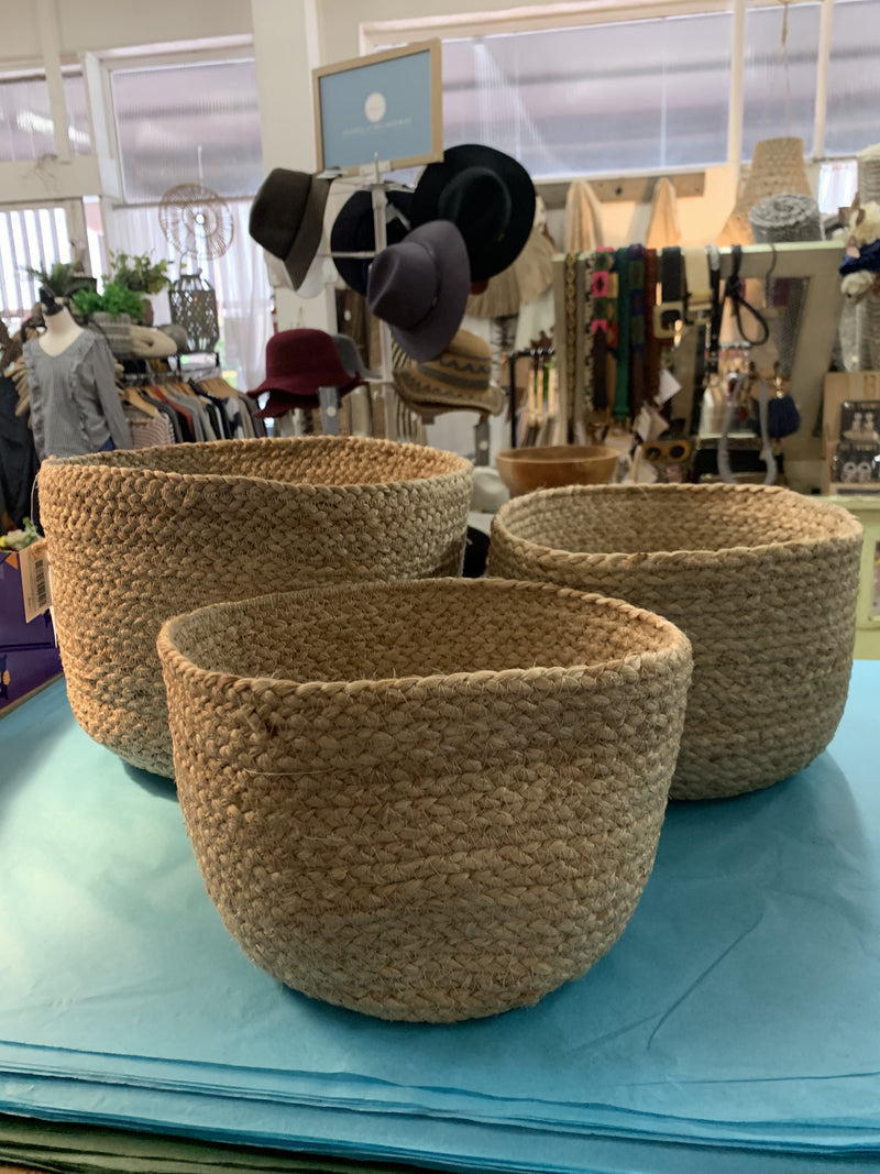 Jute Baskets set of 3