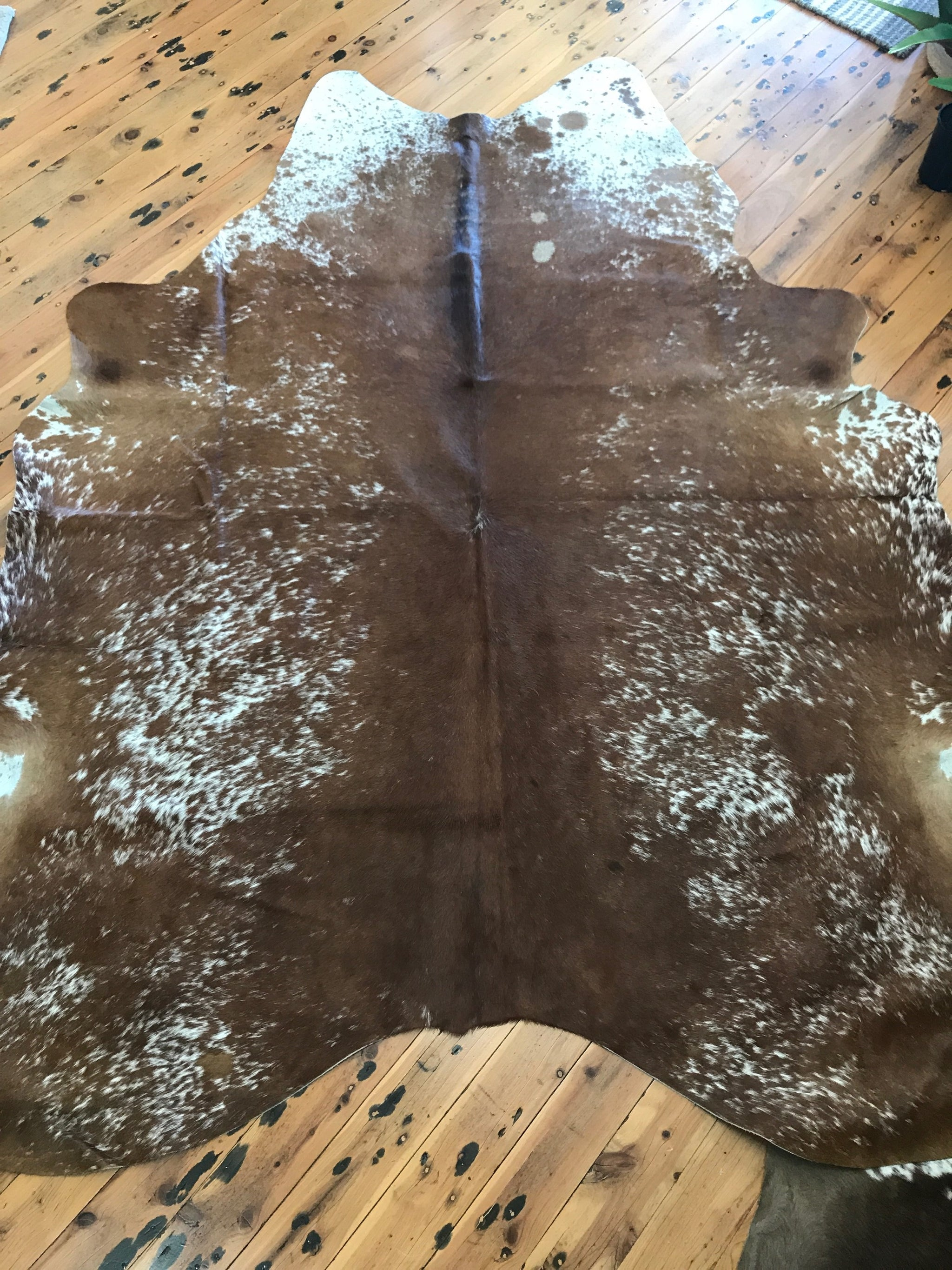 Brown Speckle Natural Cowhide Rug 2.90m