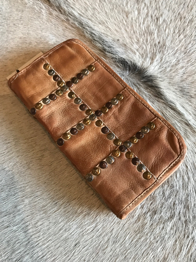 Tan Studded Wallet