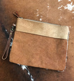 Hide/Leather Clutch