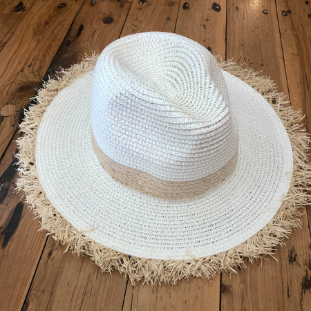 Natural woven ladies hat