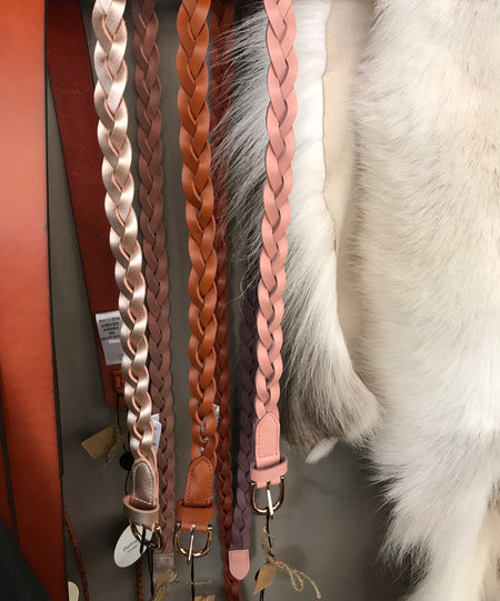 Leather Plaited Belts