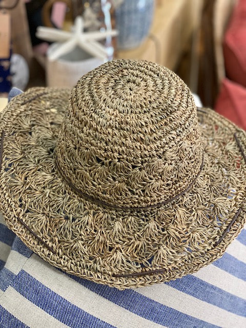 Hand Crochet Seagrass Hat