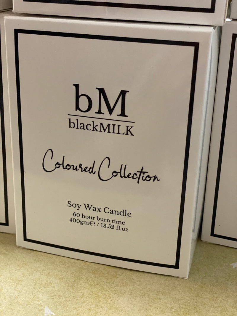 Black Milk Coloured Collection Candles