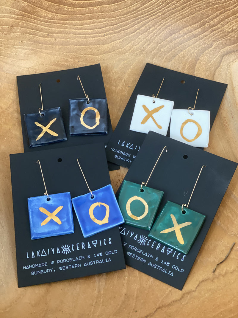 Ceramic XO Earrings