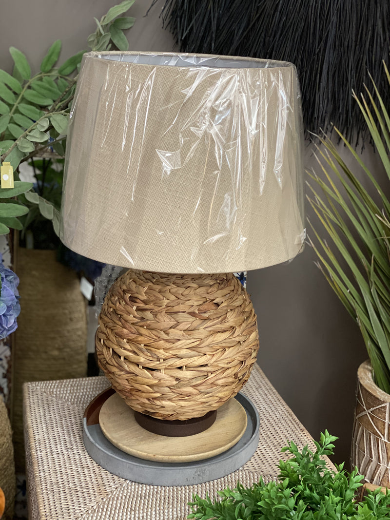 Natural Raffia Lamp