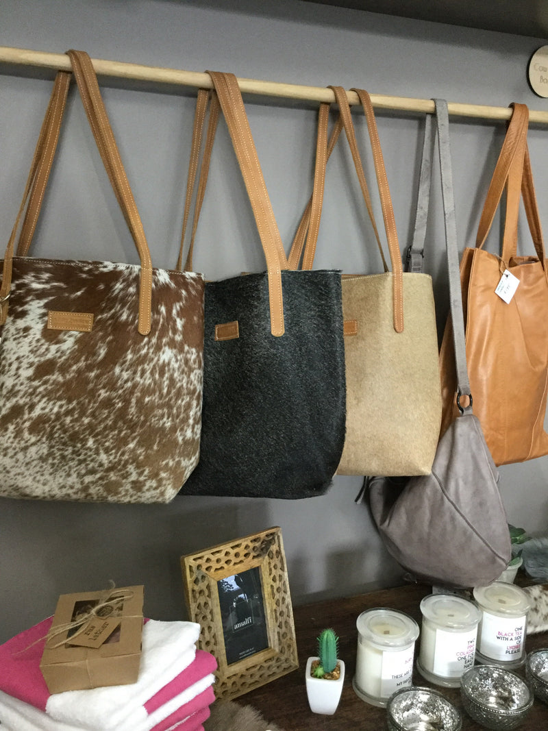 Cowhide handbags