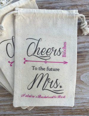 14 Cheers Bitches 5x7 Bachelorette party survival kits, bachelorette party favor bags, bachelorette hangover kits, hen party, bachelorette i