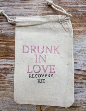 15 Drunk in love Hangover kits, recovery kit, bachelorette survival kit, bachelorette party favor, girls night out