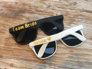 Bridal Party Sunglasses, Team Bride Sunglasses, Bride Tribe Sunglasses, Custom Sunglasses, Personalized Sunglasses, wedding favors, beach