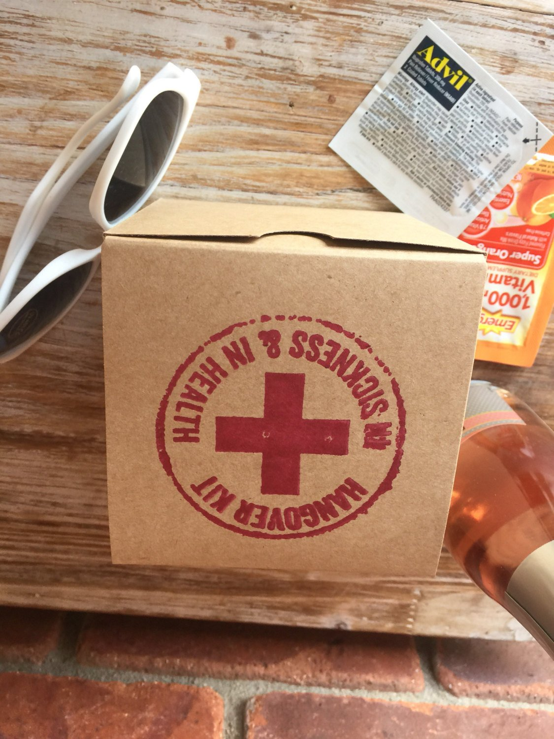 10 Hangover Kit Boxes, 4x4x4, Hangover Recovery Kit, Wedding Hangover Kit, Hangover Survival Kit, Bachelorette Party