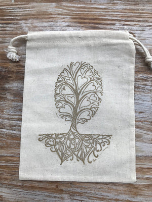 10 wedding favor bags, tree favor bags, cotton drawstring bags, fall wedding favors, romantic wedding, earthy wedding, nature favor bags