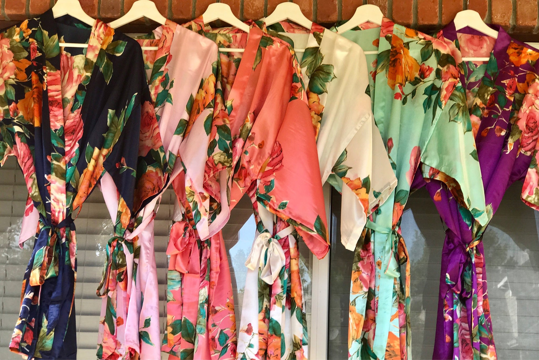 Floral Robes, Watercolor floral Bridesmaid Robes, Custom Floral Robes, Monogrammed Robes, Bridal Party Robes, Robes with titles, Bridal Robe