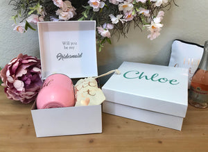 Bridesmaid Proposal Box 6x6 Personalized Bridesmaid Box Bridesmaid Proposal Will You Be My Bridesmaid?