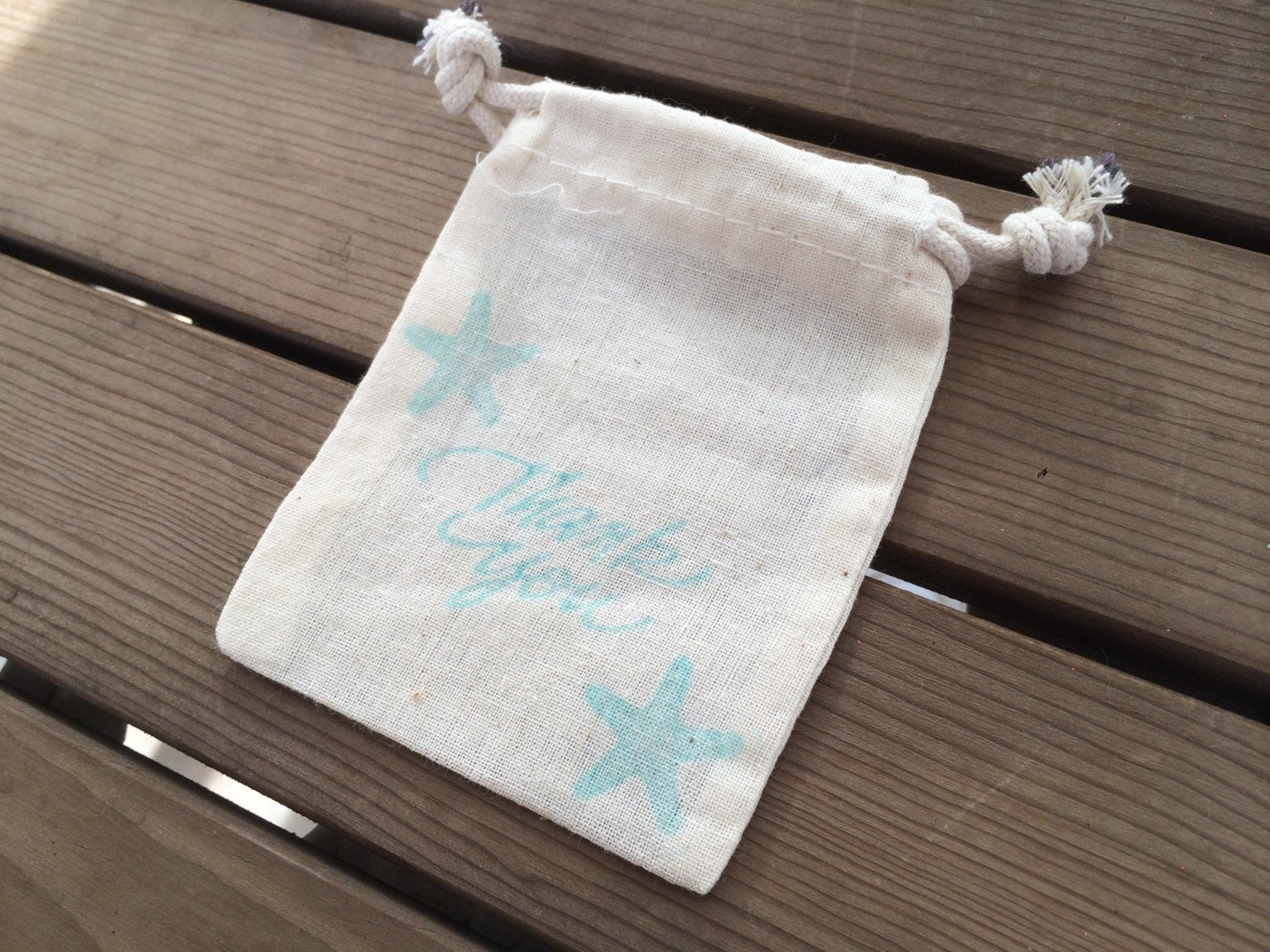 10 Starfish Thank You Bag, Beach Wedding Favor Bag, Beach Wedding Thank You Bag, Thank You Bags, Small Thank You Bags