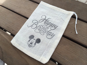 10 Mickey mouse birthday party favor bags, mickey mouse themed party bags, mickey mouse birthday favor bags, childrens party favor bags