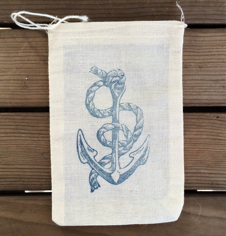 Nautical favor bags, beach wedding favor bags, anchor favor bags, destination wedding favors, welcome bags, out of town bags