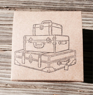 10 Travel Themed Favor Box, Luggage Favor Box, Suitcase Favor Box, Destination Wedding, Cupcake Box