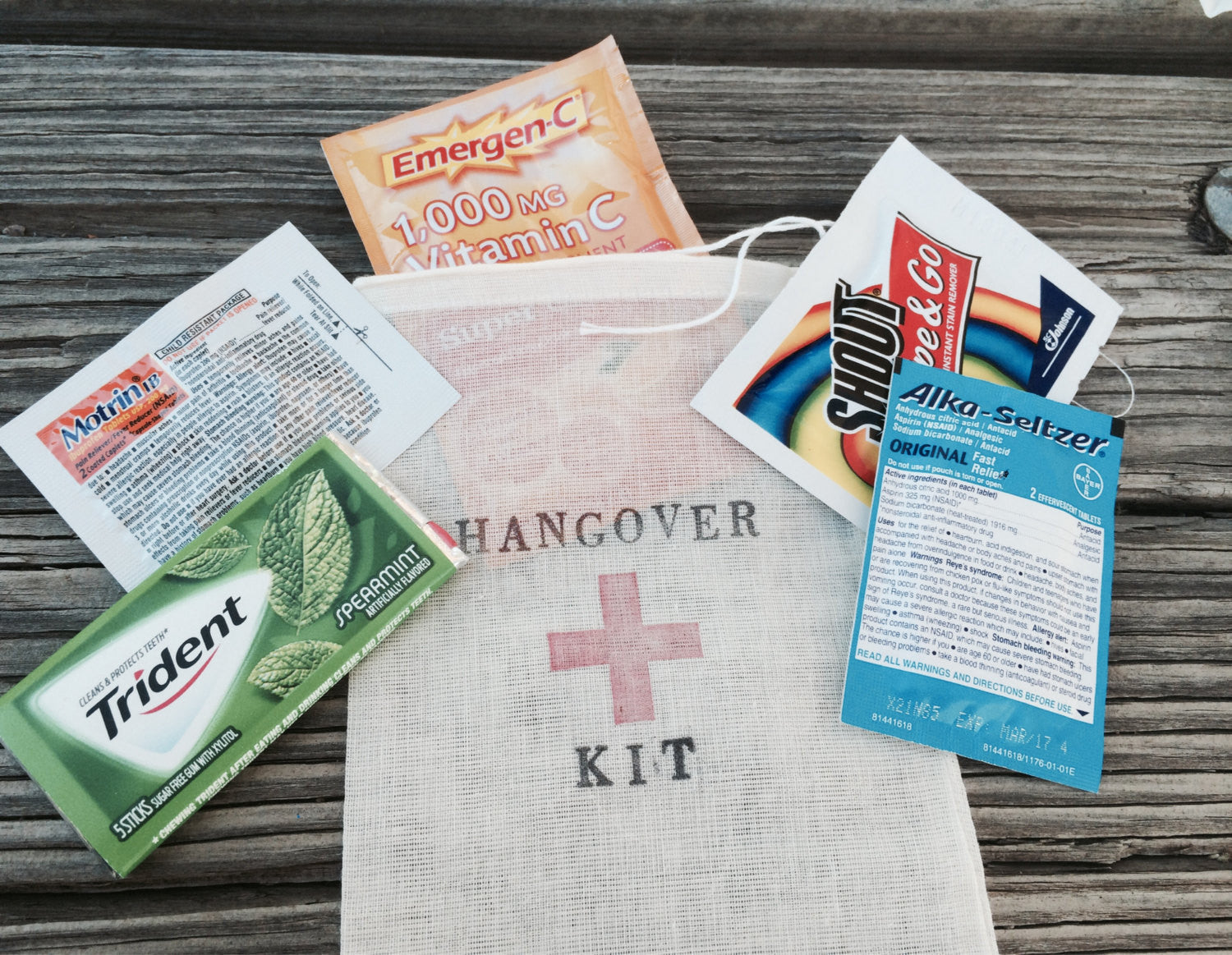 10 Complete Hangover kits, all inclusive hangover bag, hangover bag, pre-made hangover kit, complete hangover bags, welcome bags