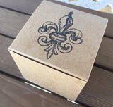 Fleur De Lis favor box, french wedding favor box, NoLa wedding favor box, Mardi Gras party favor, saints favor