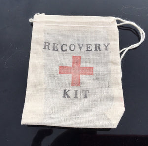 10 mini recovery kits, hangover kits, first aid kits, revovery bag, welcome bag favors