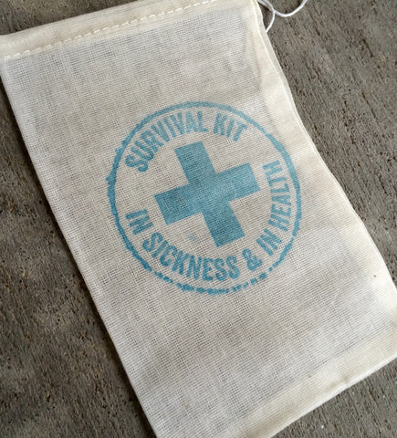 10 survival kits, wedding favor bags, recocery bags, first aid bags, hangover kits, hangover bags, wedding welcome bag favors