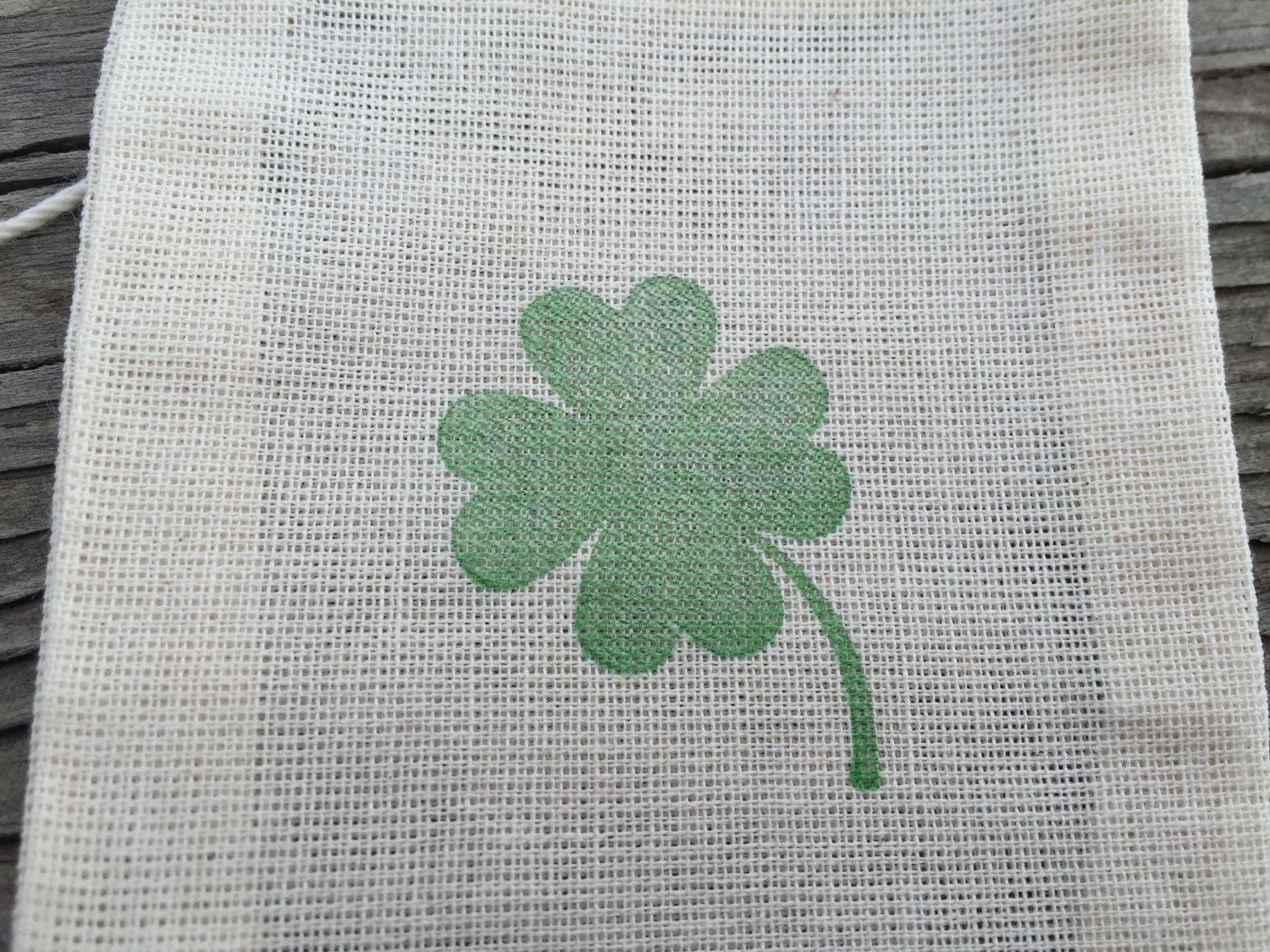 10 Four leaf clover favor bags, 3x4 irish favor bags, irish wedding favors, Saint Patricks day favor bags