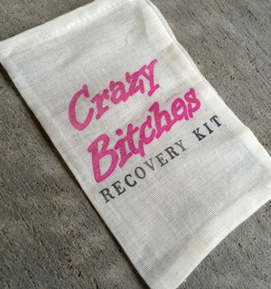 10 crazy Bitches Hangover kits, recovery kit, bachelorette survival kit, bachelorette party favor, girls night out