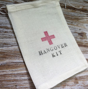 10 Hangover kits, recovery kit, first aid kit, bachelorette party survival kit, groomsmen survival kit, bridesmaid recovery kit, wedding