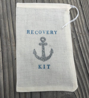 10 silver glitter anchor hangover kits, nautical hangover kits, nautical bling favor bags, hangover bag, recovery bags, recovery kit