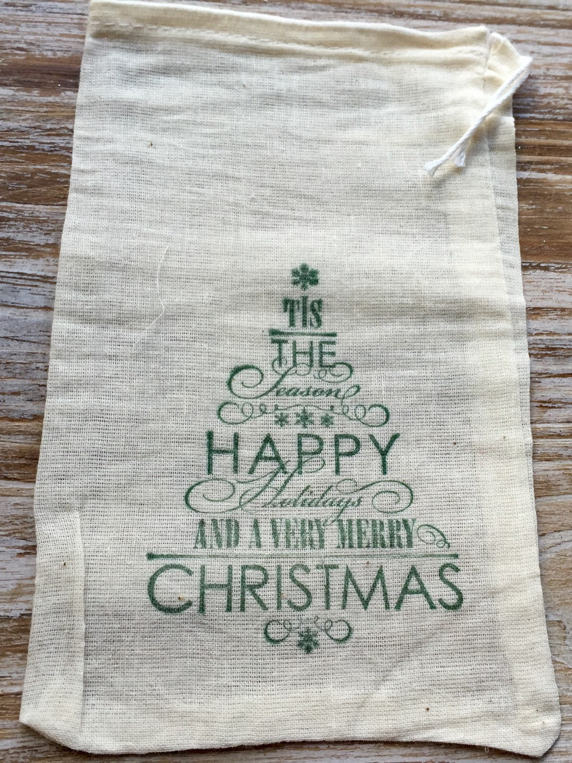 15 Christmas gift bags, 5x7, naughty or nice, cookie bags, candy bags, Christmas goodie bags