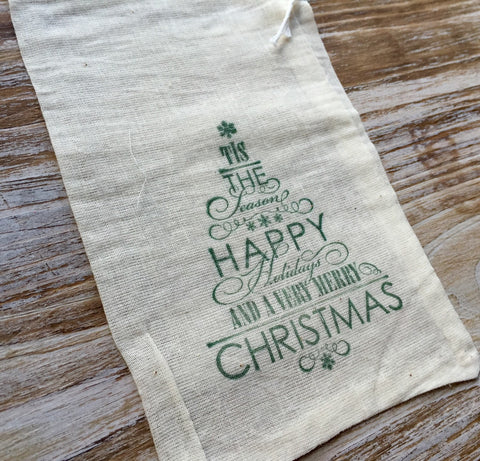 15 Christmas gift bags, naughty or nice, cookie bags, candy bags, Christmas goodie bags