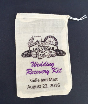 10 Las Vegas wedding recovery kit bags, wedding day survival kit,  recovery kit, hangover kit, survival kit, recovery kit, wedding emergency