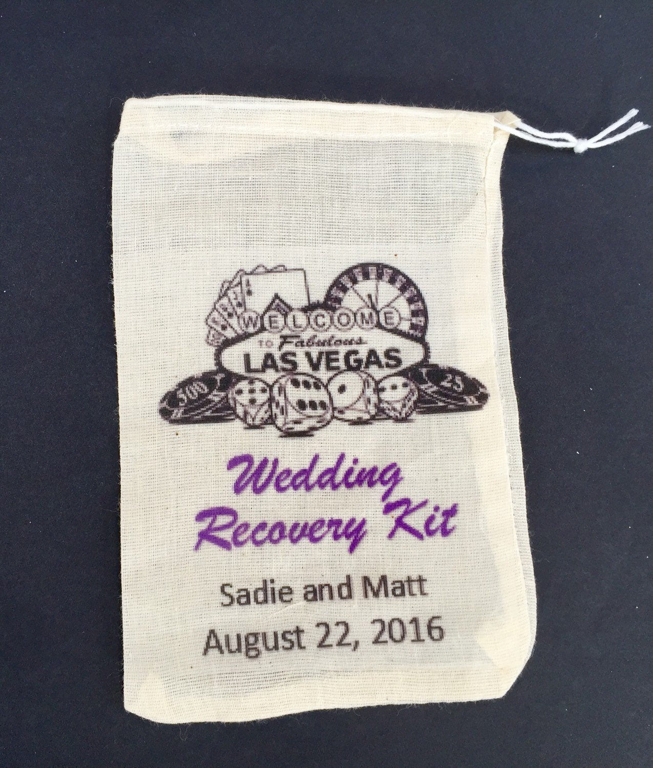 10 Las Vegas wedding 6x8 recovery kit bags, wedding day survival kit,  recovery kit, hangover kit, survival kit, recovery kit, wedding emerg
