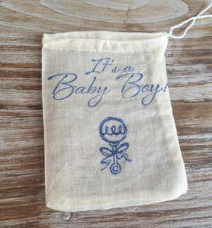 10 Baby shower favor bags, baby boy favor bags, baby girl favor bags, its a boy, its a girl, baby rattle bags
