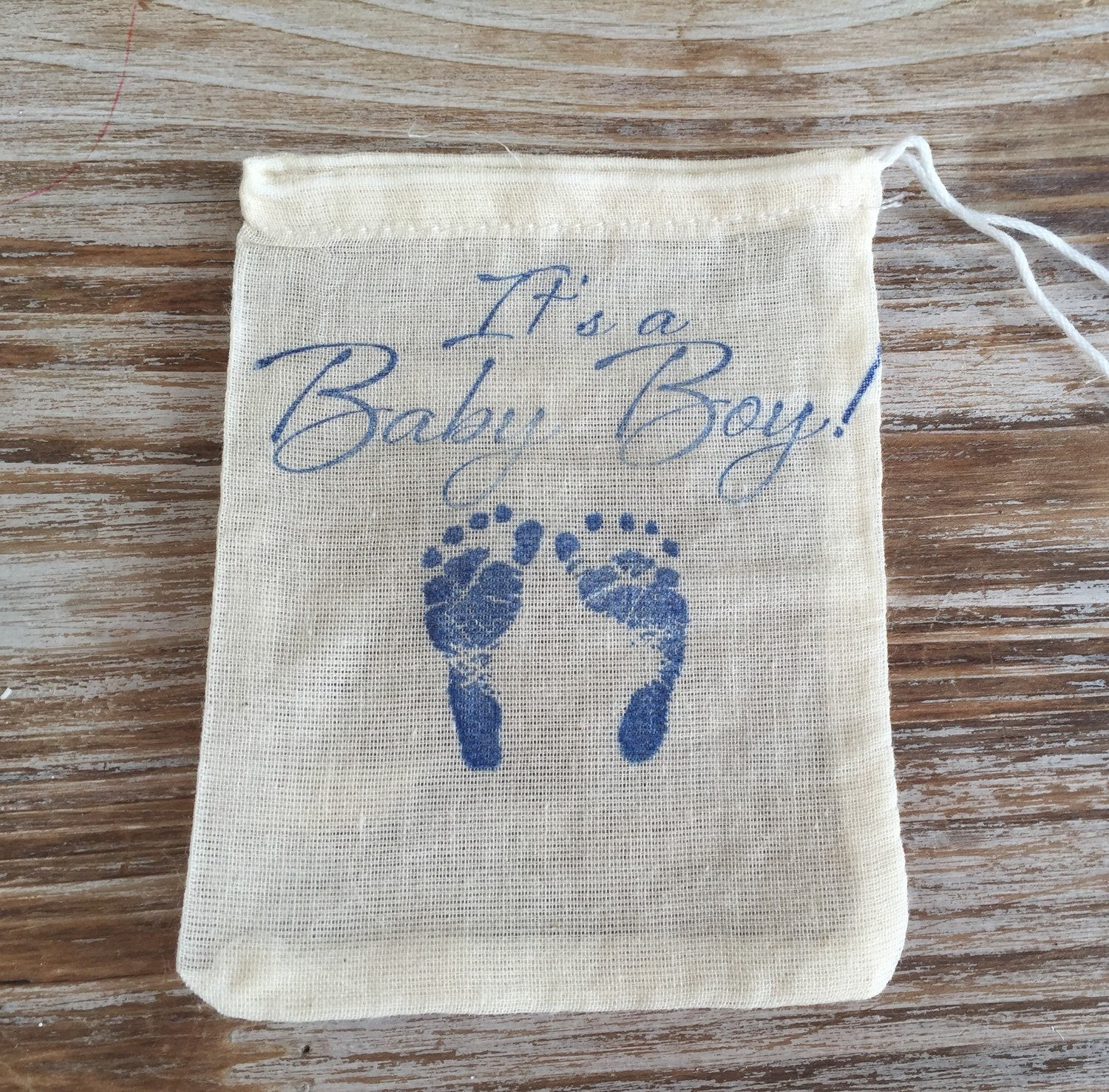 10 Baby shower favor bags, baby boy favor bags, baby girl favor bags, its a boy, its a girl,  baby shower bags
