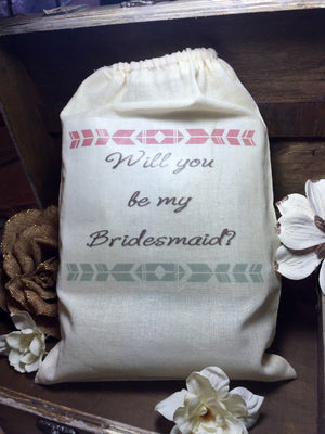 8x12 Bridesmaid gift bag, Will you be my bridesmaid? Maid of honor gift, Will you be my maid of honor, custom, personalized