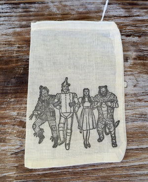 10 wizard of oz favor bags, birthday favor bags, we're not in kansas anymore