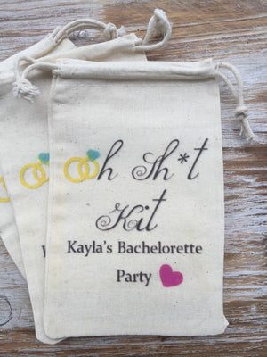 10 Bachelorette Party Oh Shit Kits,  Custom Hangover Kits, Bachelorette Recovery Kits, Bachelorette Party, Welcome Bag, Wedding Favor