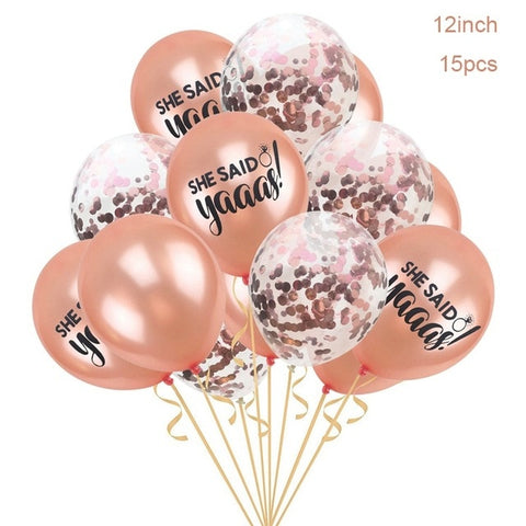 YORIWOO She Said Yaaas I Do Rose Gold Balloon Bride Wedding Team Bridal Shower Favors Hen Bachelorette Party Decorations To Be