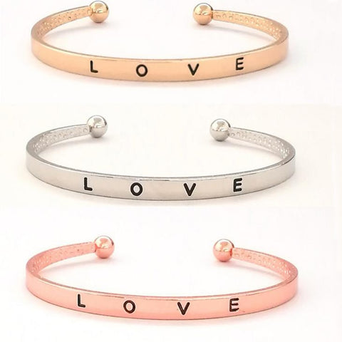 1 Pcs Hot Sale Gift for Girlfriend Love Bracelet Valentines Day Presents Bridesmaid Gift Wedding Souvenir Party Favor