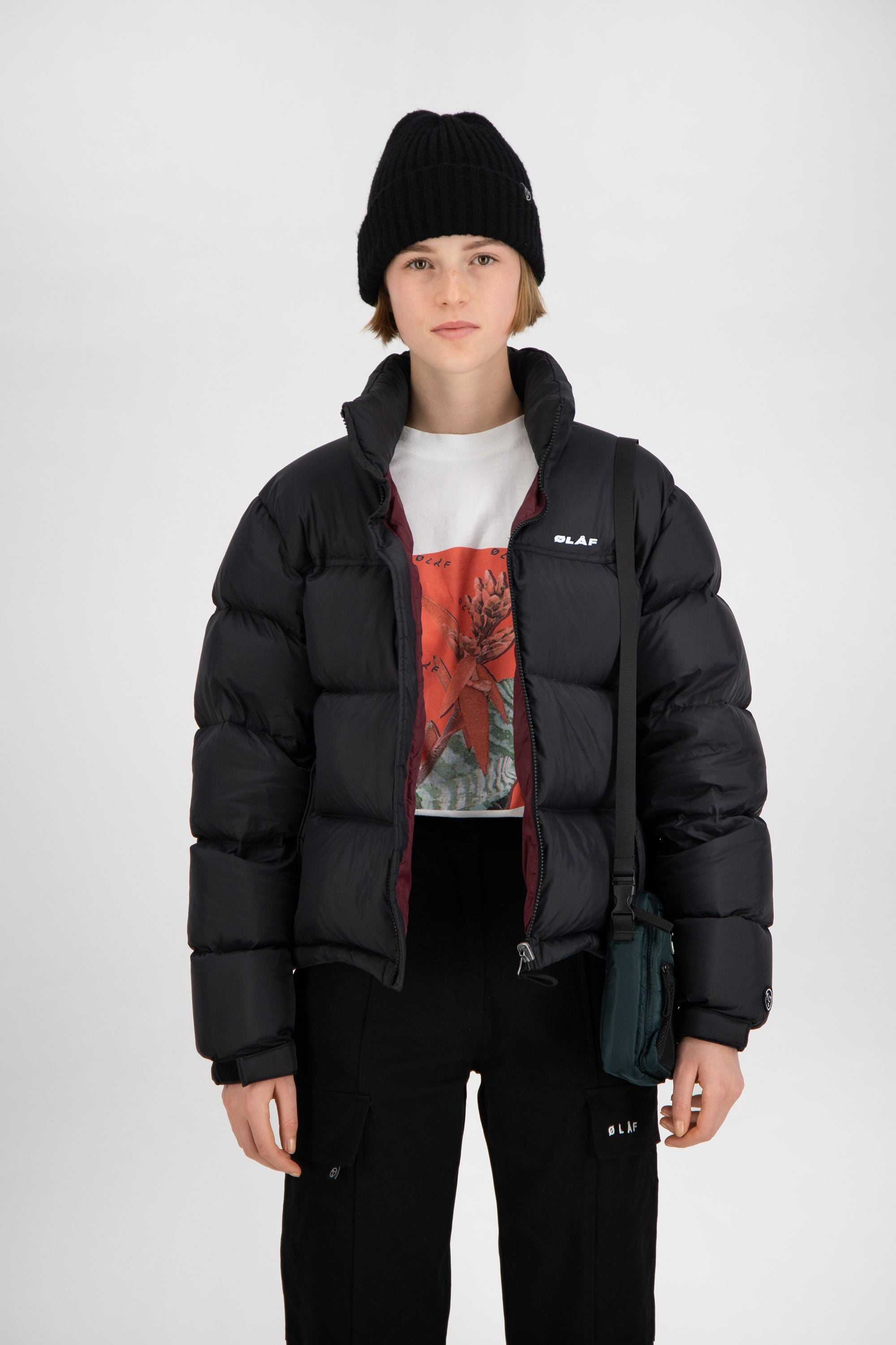 ØLÅF Women's Puffer Jacket <br>Black