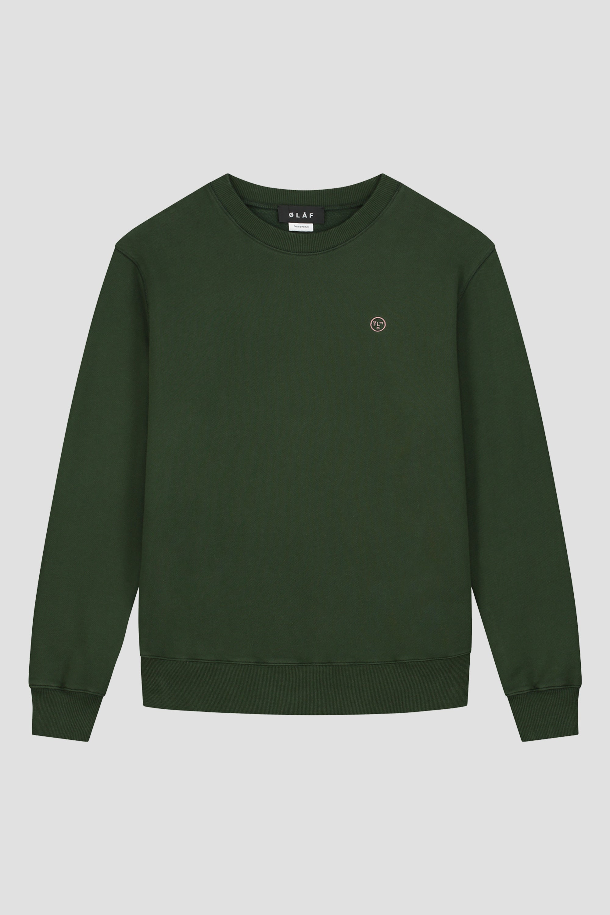 ØLÅF Face Crewneck - Dark Forest