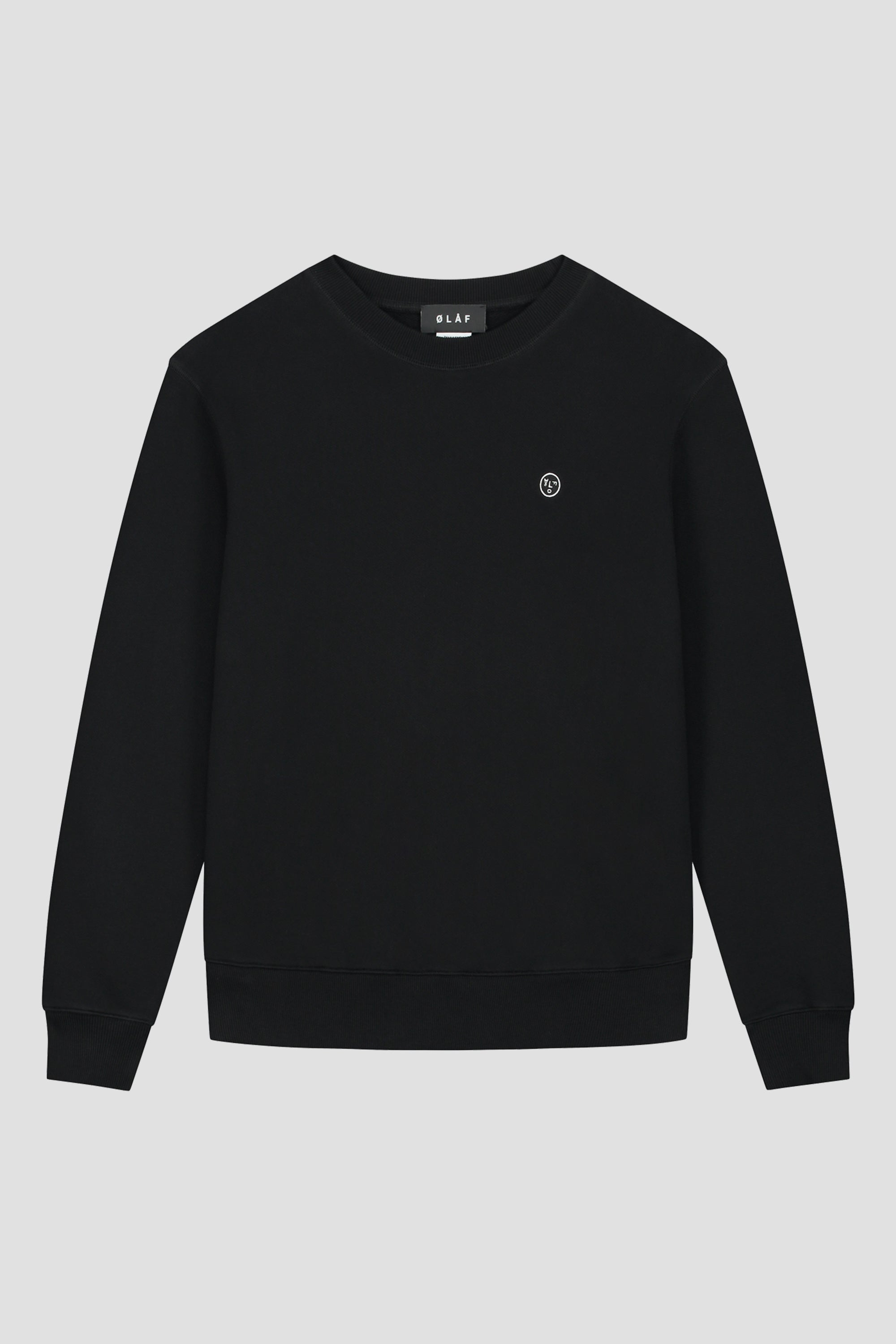 ØLÅF Face Crewneck <br>Black