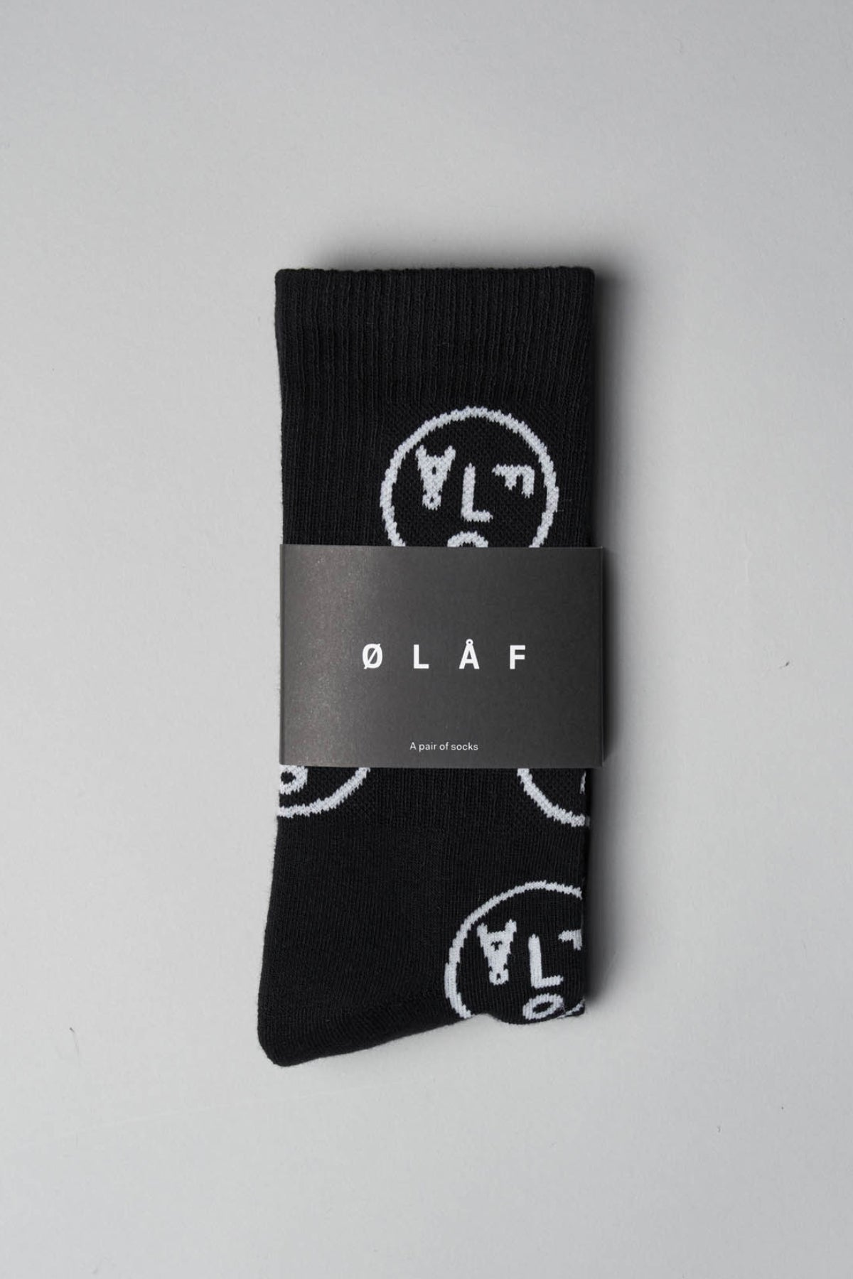 ØLÅF Face Socks <br>Black
