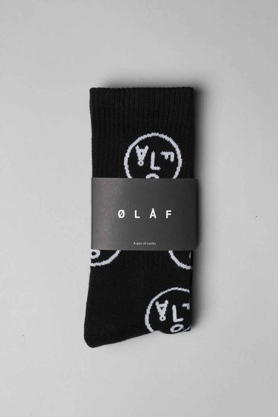 ØLÅF Face Socks - Black